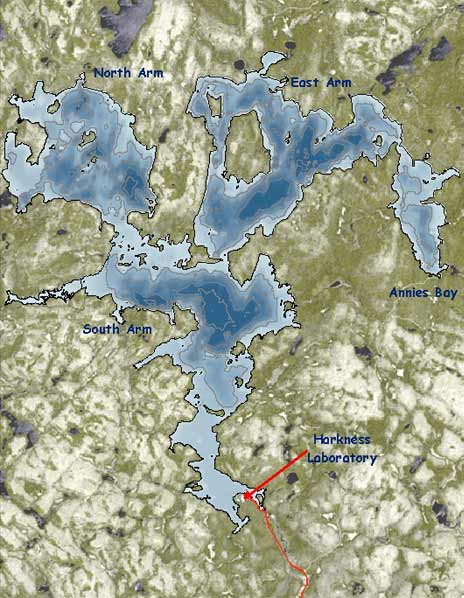 A bathymetry map of Lake Opeongo